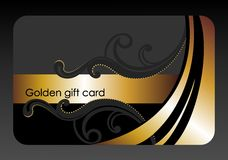 Golden gift card Stock Images