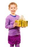 Golden gift Stock Photo