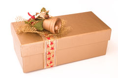 Golden gift Stock Photography