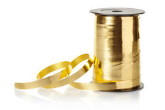 Golden gift ribbon Royalty Free Stock Image