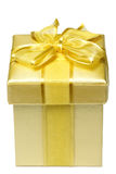 Golden giftbox Royalty Free Stock Photos