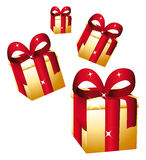 Golden gifts Royalty Free Stock Photo