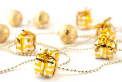 Golden Gifts Royalty Free Stock Photography