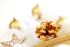 Golden gifts Royalty Free Stock Image