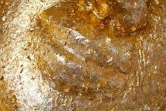 Golden Gilded Buddha Face Stock Photos