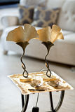 Golden Ginkgo Lamps Stock Photo