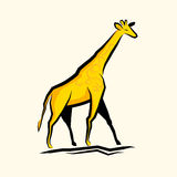 Golden Giraffe Vector Stock Image