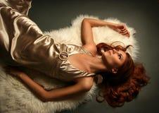 Golden girl Royalty Free Stock Photos