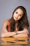 Golden girl. Stock Photo