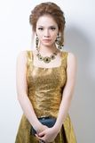 Golden glamour Stock Photos