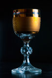 Golden glass Stock Photo