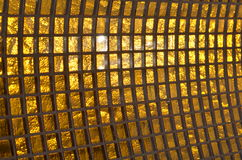 Golden glass background Stock Images