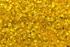 Golden glass granules Stock Photo