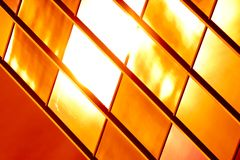 Golden glass pattern Royalty Free Stock Photos