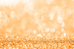 Golden glitter for abstract background.  Stock Photo