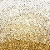 Golden glitter abstract background. Tinsel shiny backdrop. Luxury gold template. Vector stock illustration