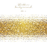 Golden glitter abstract background. Tinsel shiny backdrop. Luxury gold template. Stock Image