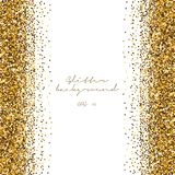 Golden glitter abstract background. Tinsel shiny backdrop. Luxury gold template. Vector royalty free illustration