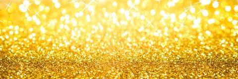 Golden Glitter Background Banner stock image