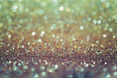 Golden glitter bokeh background. Elegant and glamour background. Stock Photography