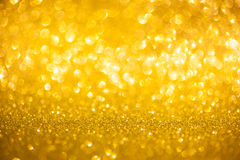 Golden glitter christmas abstract background Royalty Free Stock Images