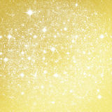 Golden glitter christmas background Stock Photography