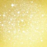 Golden glitter christmas background stock photography