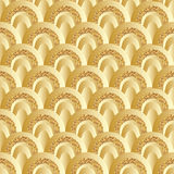 Golden glitter circle half style seamless pattern Royalty Free Stock Photos