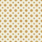 Golden glitter circle symmetry seamless pattern. Illustration design golden glitter circle symmetry seamless pattern texture graphic textile pastel color decor Stock Photo