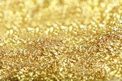 Golden glitter Stock Photography