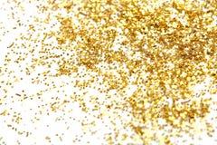 Golden glitter Stock Photos
