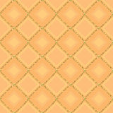 Golden glitter connect symmetry seamless pattern Royalty Free Stock Images