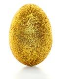Golden glitter egg Royalty Free Stock Photo