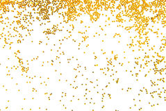 Golden glitter falling Royalty Free Stock Photography