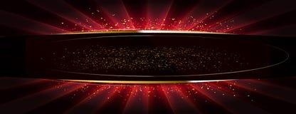 Golden glitter on a flat surface royalty free illustration