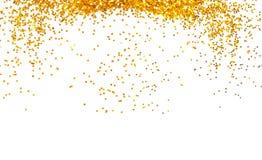 Golden glitter frame background Stock Photos