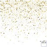 Golden glitter frame background. Stock Images