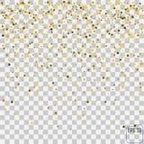 Golden glitter frame background. Stock Photography
