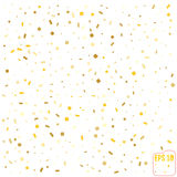 Golden glitter frame background. vector illustration Royalty Free Stock Photography