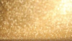 Golden glitter background stock footage
