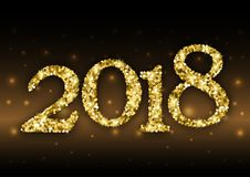 2018 from golden glitter Royalty Free Stock Image