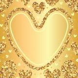 Golden glitter love seamless pattern template  Stock Photos