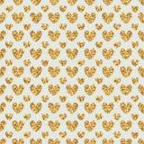 Golden glitter love symmetry seamless pattern Stock Photography