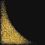 Golden glitter made of hearts. Royalty Free Stock Image