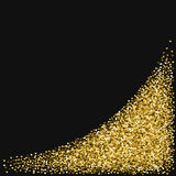 Golden glitter made of hearts. Stock Image