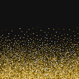 Golden glitter made of hearts. Scatter bottom gradient on black valentine background. Vector illustration Royalty Free Stock Photos