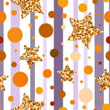 Golden glitter particles and shine. Vector. Stock Photo