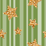 Golden glitter particles and shine. Vector. Royalty Free Stock Image