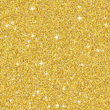 Golden glitter pattern texture with star. Abstract background glowing premium banner. Stock Photo