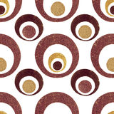 Golden Glitter Retro Circles Royalty Free Stock Images